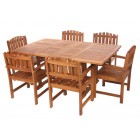 Double Butterfly Teak Dining Set - Ready to Ship