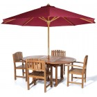 Butterfly 5-Piece Teak Dining Set - Ready to Ship