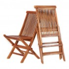 Folding Teak Deck Chairs - Set of 2 - Ready to Ship
