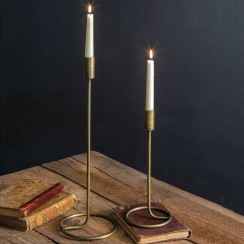Brass Taper Candle Sticks - Set of 2