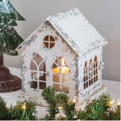 Christmas Cottage Candle Lantern