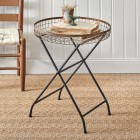 Copper Finish Basket Side Table - Ready to Ship