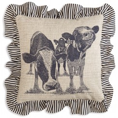 Cows Throw Pillow (Filler Included)