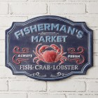 Fisherman's Market Wall Sign