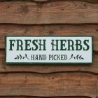 Fresh Herbs Metal Wall Sign