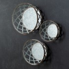 Galvanized Metal Baskets Wall Decor - Set of 3