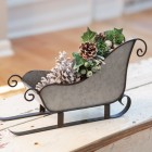 Galvanized Metal Sleigh Ornament