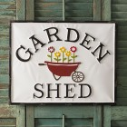 Garden Shed Metal Wall Sign