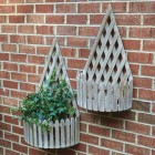 Lattice Wall Planters - Set of 2