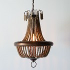 Milo Wood Bead Mini-Chandelier