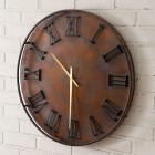 Mixed Metal Wall Clock
