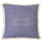 Navy Stripe Throw Pillow (Filler Included)