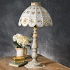 Ophelia Pierced Metal Table Lamp - Ready to Ship