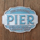 Pier Metal Wall Sign