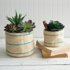 Tulum Jute Planters - Set of 2