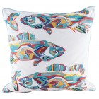 School Of Fish Throw Pillow (Filler Included)