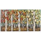 Autumn Birch Metal Wall Decor