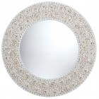 Floral Pattern Seashell Wall Mirror