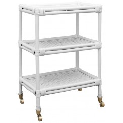 Heron Rattan Serving Cart - Ready to Ship