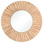 Natural Wood Over-Sized Wall Mirror