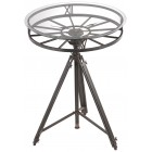 Industrial Tripod Clock Table - Ready to Ship