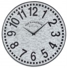 West Silver Wall Clock