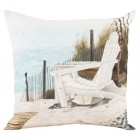 Adirondack Hand-Painted Throw Pillow (Filler Included)