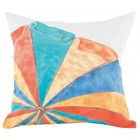 Beach Umbrella Hand-Painted Throw Pillow (Filler Included)
