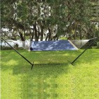 Olefin Hammock With Pillow & Tri-Beam Stand