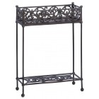 Rectangular Cast Iron Plant Stand - Ready to Ship