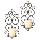 Burgeon Candle Wall Sconces - Pair