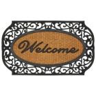 Scrollwork Coir Welcome Mat