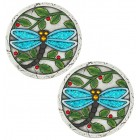Blue Dragonfly Stepping Stones - Pair