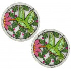 Green Hummingbird Stepping Stones - Pair