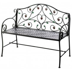Apple Harvest Outdoor Bench - Ready to Ship