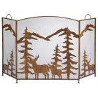 Rustic Forest Fireplace Screen - Ready to Ship