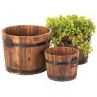 Apple Barrel Planters - Set of 3 - Ready to Ship