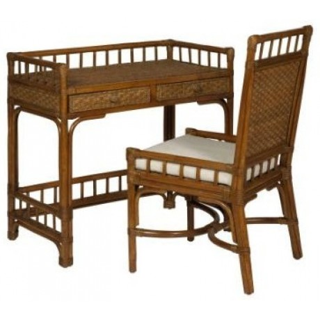 Manila Rattan Desk Chair Set Custom