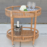Sausalito Bar Cart - Oval - Custom Made