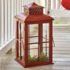 Big Red Candle Lantern