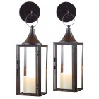Compton Wall-Mount Candle Lanterns - Pair
