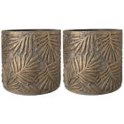 Palm Leaves Flower Pots - Pair - Ready to Ship